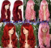 African-American Wigs   Wholesale 4 style Choose   Promotional 2011 New Red&Pink Wavy Women's Wig Wigs rP  Cheap
