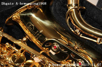 Wholesale A grand listed Original Dave brand The First Step Serial new golden Alto Saxophone top quality gold