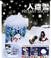 Wholesale Christmas DIY Artificial Snow Powder Happy Holidays Gifts Snow Tree Decorations