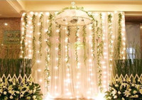 Wholesale 300 LED lights m m Curtain Lights Christmas ornament light Flash weddind Colored light Fairy light