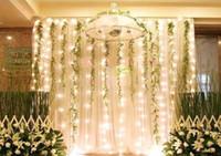 Wholesale 300 LED lights m m Curtain Lights Waterproof Christmas ornament light Flash weddind Colored light Fairy lights LED Strip Lighting Strips