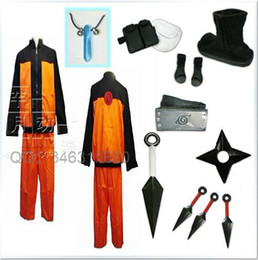 Wholesale Uzumaki Naruto Cosplay Costume Whole Set