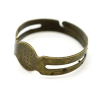 Wholesale DIY Bronze Fashion Charm Adjustable Rings Base Blank Open Rings Finger Rings Jewelry Finding