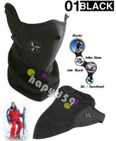 Wholesale free ship neoprene face mask for skiing bicycle motorcycle bike winter thermal face mask