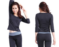Wholesale Women Yoga Gym Clothes Brand Fashion Middle Sleeve sport amp Fitness yoga Suit