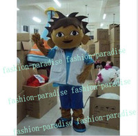 Wholesale dora young brother Mascot costume Fancy Dress Adult Suit For Halloween adult size cm
