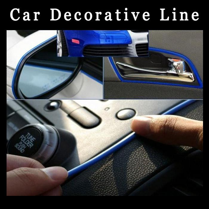 2017 car sticker decoration moulding trim strip line 3m - Decoration murale auto adhesive ...