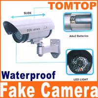 al por mayor ccd de seguridad cctv-cámara impermeable cámaras de seguridad falsas Vigilancia Maniquí con luz LED parpadea CCTV S89