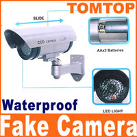 Wholesale Fake waterproof Surveillance Security Camera Dummy camera with LED light flashes CCTV S89