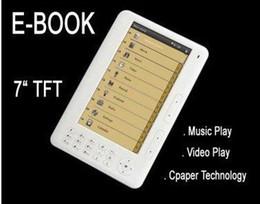 Vente en gros - 7 pouces TFT Ebook lecteur TTS FM Radio 800x400 4 Go Musique 720p e-book noir blanc rose
