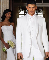 Wholesale Men s business suit black ivory color dress suits wedding Bridegroom Suit size R167