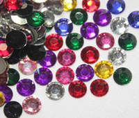 Wholesale 2000 mm Mixed Colors Flat Back Acrylic Rhinestones Gems crystal beads