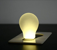 Wholesale LED card light Nightlight Thin card wallets Lights Bulb shape Pocket Light color g