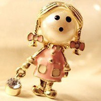 worldwide Women's Party Lovely cartoon baby lady fashion brooch chest pin clip Fascinated vivid women charming brooches