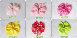 Wholesale 50pcs Girls hair bow hairbow Baby hairband hair band satin crochet headband clip hair bow ipok k