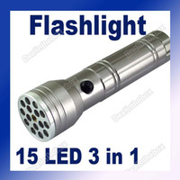 New brand 160lm LED Flashlight 15 LED+UV+LASER Ultraviolet Flashlight Lamp Torch High Quality Adeal #187