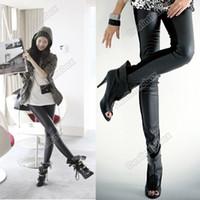 Cheap Women treggings pants Best Skinny,Slim Capris leather leggings