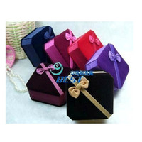 Wholesale Bracelet Jewelry Box Bangle Packing Box Bracelet Package Ribbon Gift Box Velvet Fabric