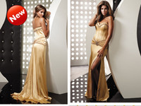 Wholesale New arrival strapless satin name brand girls dresses women dresses evening gown party dress