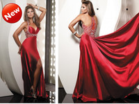 Wholesale New arrival halter red name brand girls dresses women dresses evening gown party dress