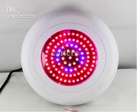 Wholesale New Model W Watts LED UFO Triband Red Blue Orange Leds Hydroponic Plant Lamp Grow Light