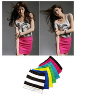 Wholesale Sweet summer girl sexy candy colors bag hip bust skirt a line skirt