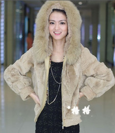 Wholesale Rabbit fur coat new Fox tie grass fur hat