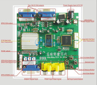 Wholesale RGB TO VGA CGA TO VGA converter board VGA output game accessory for arcade LCD game machine