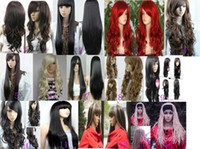 Wholesale 100 New wavy curly straight wig long curly copper red amp brown mix women s wigs