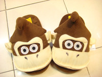 Wholesale Super Mario Bros Plush Donkey Kong slipper quot soft plush