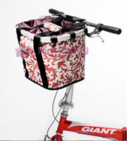 Wholesale pet travelling bag Bicycles bags carrier pet basket brown CM HZRC07