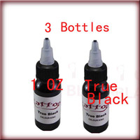 Wholesale Freeshipping Top ml oz Bottles Set True Black Tattoo Ink Pigment Supply