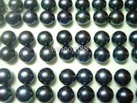 al por mayor negro perlas de agua dulce sueltos-30 pares/lote de Perlas de agua Dulce Suelta Perlas Para el BRICOLAJE de la Joyería artesanal de Arete Negro MP02