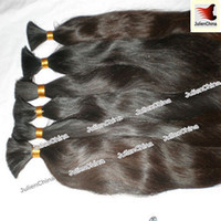 Wholesale 100 Brazilian Hair Bulks Unprocessed Virgin Remy Human Hair Inch Support Mix Order And Customize