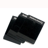 Wholesale 250 Black Ear Hooks Earring Display Cards x37mm W00907x5