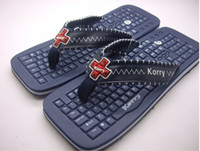 Wholesale Keyboard Flip Flops Keyboard Slippers Sandals for MEN USA UR colors
