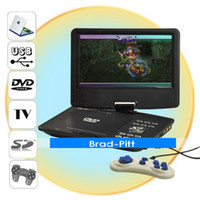 Wholesale Portable DVD with Inch LCD TV Tuner FM in Card Reader Christmas gift
