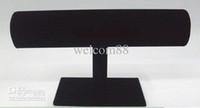 1pcs / lot T-Bar Black Velvet Montre Bracelet Jewelry Display Support à rack Pour Bijoux DS1 * Livraison gratuite
