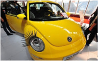 Wholesale Fashion D Car Eyelashes D Car Logo Stickers Lashes Decorations Accessories Gifts pairs