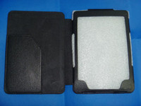 Wholesale Leather Case for Kindle Touch Wifi Amazon eBook Reader wifi g Kindle4 Leather Cover Case BLK