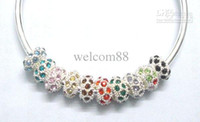 Wholesale 10pcs Silver European Crystal Beads Fit Troll Bracelet Necklace DIY C28