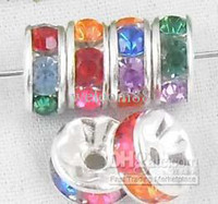 Wholesale Silver Plated Pretty Spacer Beads Multicolour CS3