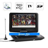 Portable portable dvd player tv - Hot Inch LCD Rotary DVD Player with TV Tuner Remote Control Christmas gift