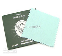 Wholesale 10pcs Silver Jewelry Cleaning Polishing Cloth For DIY Craft Fashion Jewelry Gift x8cm CL1