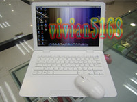 Wholesale 13 Inch Netbook PC Laptop Notebook Intel D425 Built in MP WIFI Camera G GB HDD White