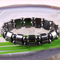 Wholesale Discounted Factory Price Therapy Stretchy Magnetic Hematite Jewelry Wrap Bracelet