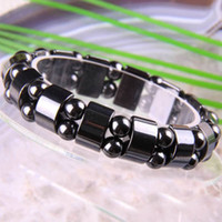 Mexican wholesale hematite jewelry - Therapy Stretchy Magnetic Hematite Jewelry Wrap Bracelet