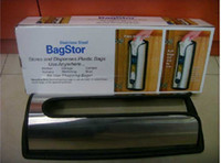 Wholesale New bagstor bag stor Trash bag Holder stainless steel easy recycle plastic grocery bags