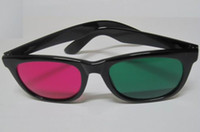 anaglyph games - Red magenta Green cyan Anaglyph D GLASSES plastic frame stereo glasses Flat glasses for movie game