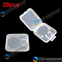 Wholesale 20pcs TF Micro SD Card GB GB GB GB GB Holder Storage Box Case Plastic Protector Cover